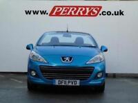 2011 Peugeot 207 CC 1.6 VTi Sport 2 door Auto Petrol Convertible