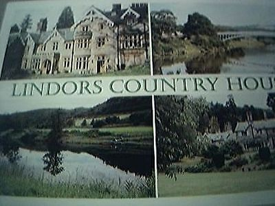 postcard used lindors country house views