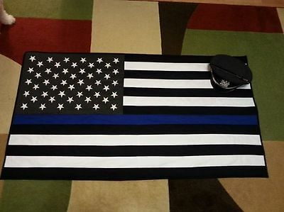 Thin Blue Line lap quilt pattern - easy to complete