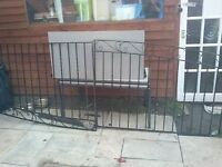 10ft 4 inch driveway gates plus side gate will all posts in good cond