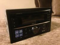 ALPINE DOUBLE DIN HEAD UNIT.. MODEL NUMBER CDE-W235BT.. BLUE TOOTH..