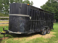 Stock Trailer - suited for tall big horses, or cattle, or other!
