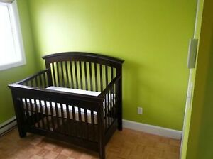 Convertible Solid Wood Crib and Mattress (Great deal!)