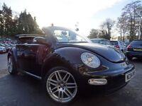 2004 Black Volkswagen Beetle 16V 1.4 Convertible Cabriolet Alloy Wheels