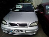 ASTRA 1.6. 53 PLATE. FULL MOT. CHEAP CAR AT £450.