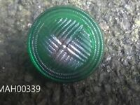 Art deco Jade green and gold glass buttons - lot of 20 craft hobby