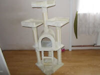 Cat tree House and Scratch pole