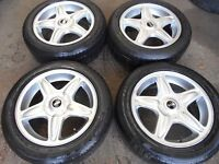 """16"""" GENUINE BMW MINI STYLE 103 ALLOY WHEELS WITH 195/55/16 RUNFLAT TYRES"""