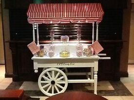 Beautiful handmade Candy Cart avaialiable for Hire for Weddings, Kids , birthdays