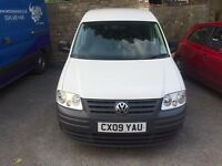 VW Caddy 2.0 SDi Van, 2009, 63k miles, Manual, White, Very Good Condition, Long MOT