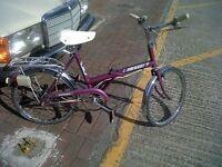 Raleigh Stowaway folding shopper bike