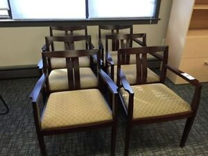 Reception chairs, for lobby, front area, or behind desk