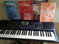 Yamaha PSR220 keyboard with stand & books with cds.