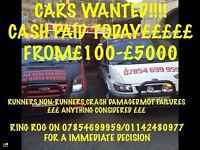 WANTED! CARS, VANS, TRUCKS, ALSO CARAVANS FOR CASH! £150-£5000 CASH PAID! MOT FAILURES ALSO CRASHED!