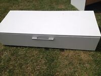 strong white tv unit/coffee table good condition only £15.00