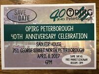 OPIRG's 40th Anniversary Celebration and Free Market Giveaway