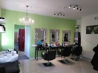 HAIR/BARBER SALON FOR RENT OR SALE WITH HALF OF THE LEASE