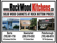 SOLID WOOD RTA CABINETS AT ROCK BOTTOM PRICES!
