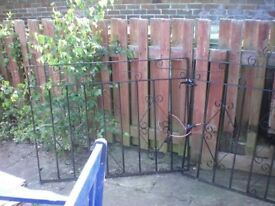 "Each gate size is 3' 10"" width & 3' 3"" tall. Just had new coat of Hammerite paint"