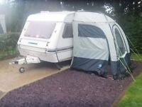 2 berth touring caravan with porch awning
