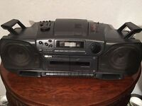 Old fashioned cd / twin tape/ radio full working order mains or batteries
