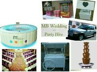 Wedding and Party Hire, HotTubs,Popcorn,Floss,ChocolateFountains,ChairCovers,Sweet Cart