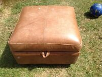 leather footstool good condition only £12.00