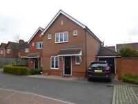 3 bedroom detached house with garage and garden available now