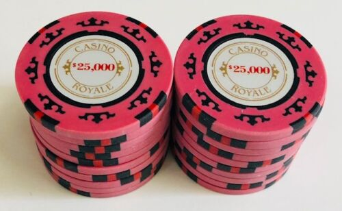 (25) $25,000 CASINO ROYALE POKER CHIPS