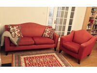 Great quality very comfortable sofa and arm chair