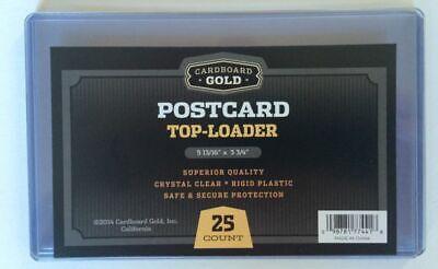 Case 500 CBG 5.875 x 3.75 Rigid Hard Plastic Postcard Topload Holders protector