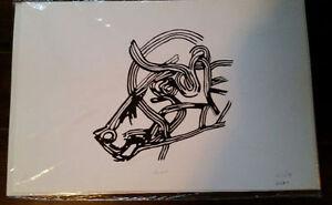 """Aurochs"" Limited Edition Print by Paul Sutton-$50"