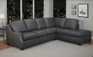 CANADA MADE LEATHER SECTIONAL SALE (ND 87)