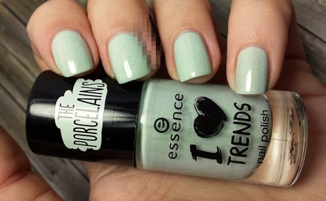 Essence I love TRENDS nail polish the porcelains Nr. 50 make up your mint 8 ml