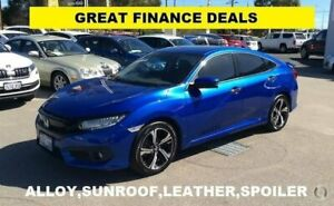 2016 Honda Civic 10th Gen MY16 RS Blue 1 Speed Constant Variable Sedan Greenfields Mandurah Area Preview