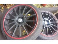 VW Golf Mk5 x3 225/40/18 Alloys Wheels & Tyres