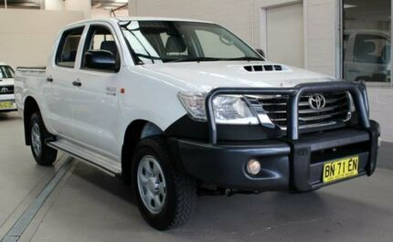 2012 Toyota Hilux KUN26R MY12 SR (4x4) White 5 Speed Manual Dual Cab Chassis Condell Park Bankstown Area Preview