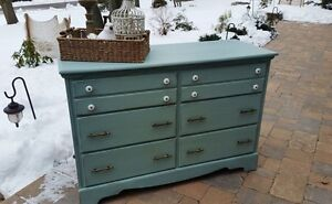 Painted Duck Egg Maple Dresser - Perfect Change Table