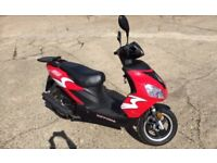 Nipponia Neon 50cc Moped in showroom condition with only 240 miles from new