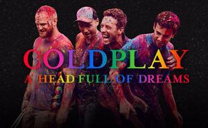 Coldplay billets (Rouge, Club et Blanc)