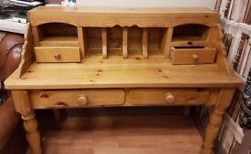 Solid pine farmhouse style work desk