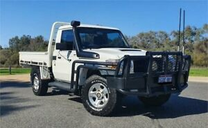 2013 Toyota Landcruiser VDJ79R MY12 Update GXL (4x4) White 5 Speed Manual Cab Chassis Cannington Canning Area Preview