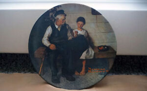 The Lighthouse Keeper's Daughter Plate Norman Rockwell