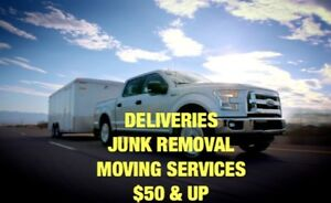 Junk Removal ~ Deliveries ~ Moving ~ $50 & up ~ 5875969555