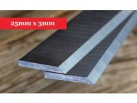 Planer Knives 25mm x 3mm-260mm long x 25mm high x 3mm thick