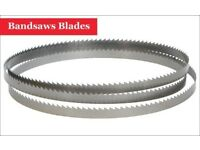 "Bandsaw Blades (Pack of 5) 88"" x 3/8"" x 6TPI 2235mm Online"