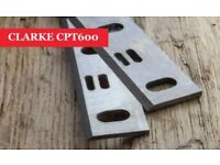 CLARKE CPT600 Planer blades knives - 1 Pair Online