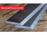 Record Power 310S Resharpenable Planer Blades Knives - 1 Pair