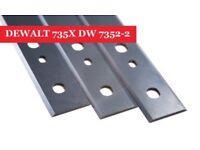 Online DEWALT 735X DW 7352-2 Planer Blades Knives - Set of 3
