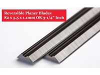 "High quality 82mm (3-1/4"") reversible planer blades"